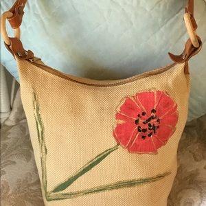 Italian Jute Shoulder Bag. Made in Italy